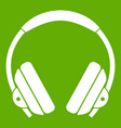 headphone icon green vector image vector image