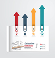 infographic book open with bookmark arrow vector image vector image