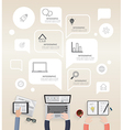 infographic of modern creative office vector image