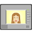 Intercom with video vector image vector image