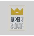 king crown barber shop vintage label badge or e vector image