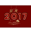 Merry Christmas 2017 Christmas greeting card vector image