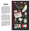 news informative promotional banner with reportage vector image
