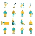 People With Disabilities Icons Set vector image vector image