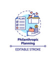 philanthropic planning concept icon vector image vector image
