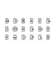 phone line icons mobile device notification vector image