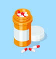 pill bottle medical capsules container vector image vector image