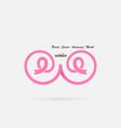 pink breastbosomor chest iconpink ribbonpink vector image vector image