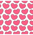 Pink contour heart Seamless Pattern Wrapping vector image vector image