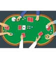 Poker Game Top View vector image vector image
