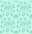 praying hand icon pattern rug mats quran outline