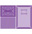 purple floral invitation vector image vector image