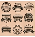 Racing insignia set vintage style vector image vector image