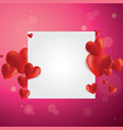 Realistic hearts background