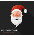 Santa Claus Face with Flat Design vector image