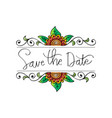 save date card design vector image