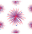 seamless pattern fireworks night sky happy vector image
