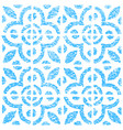 seamless pattern with dutch ornaments in delft vector image