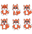 set funny foxes Cartoon vector image vector image