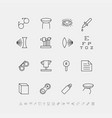 set of medical icons for ophthalmology vector image vector image