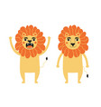 set with lions vector image