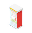 showcase refrigerator isometric 3d icon vector image
