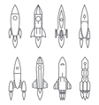 Space Rocket icons Start Up and Launch Symbol New vector image vector image