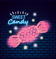 sweet candy neon vector image