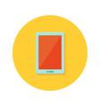 Tablet icon over orange