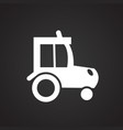 tractor on black background vector image