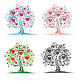Tree of hearts vector image vector image