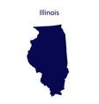 united states illinois dark blue silhouette vector image vector image