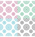 white patterns with circles vector image vector image