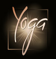 yoga littering concept on a dark background vector image vector image