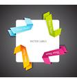 Set of colorful corner ribbons vector image