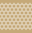 abstract geometric seamless pattern golden vector image vector image