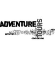 adventure tours text word cloud concept vector image vector image