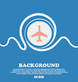 airplane sign icon Blue and white abstract vector image vector image