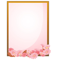 An empty paper with a flowery design vector image vector image