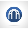 Arched structure blue round icon vector image vector image