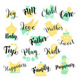 baby shop hand drawn logo set vector image vector image