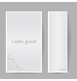 Banners with Shadow Looks Good Gray Color vector image vector image