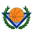 Basket emblem vector image vector image