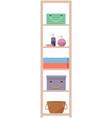 bathroom interior furniture wardrobe with shelf vector image