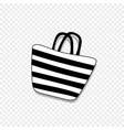 beach striped womens bag icon isolated on vector image