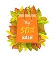 Big Sale 50 Percent Autumn Paper Bag Label vector image vector image