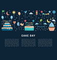 cake day suitable for vector image