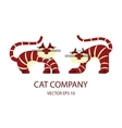Cat logo template vector image vector image