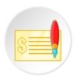 Checkbook icon cartoon style vector image