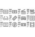 Cinema line icon set vector image